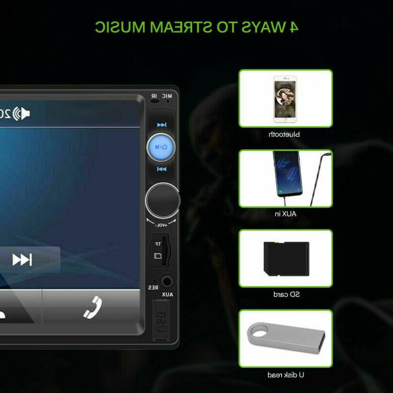 7inch 2Din Touch Screen MP5 Player Android USB/TF+Camera