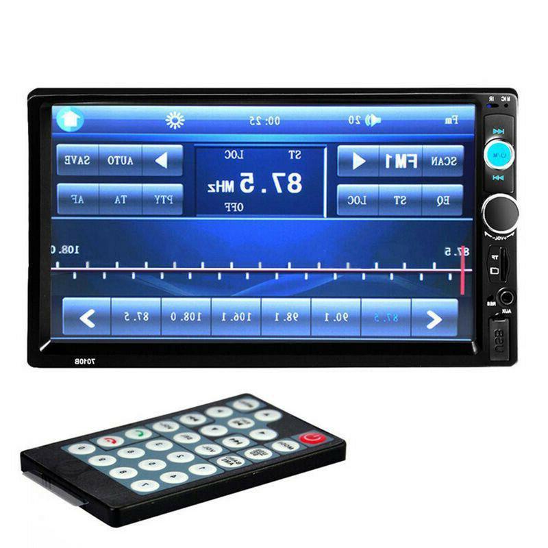 7inch 2Din Screen Car Stereo Player USB/TF+Camera