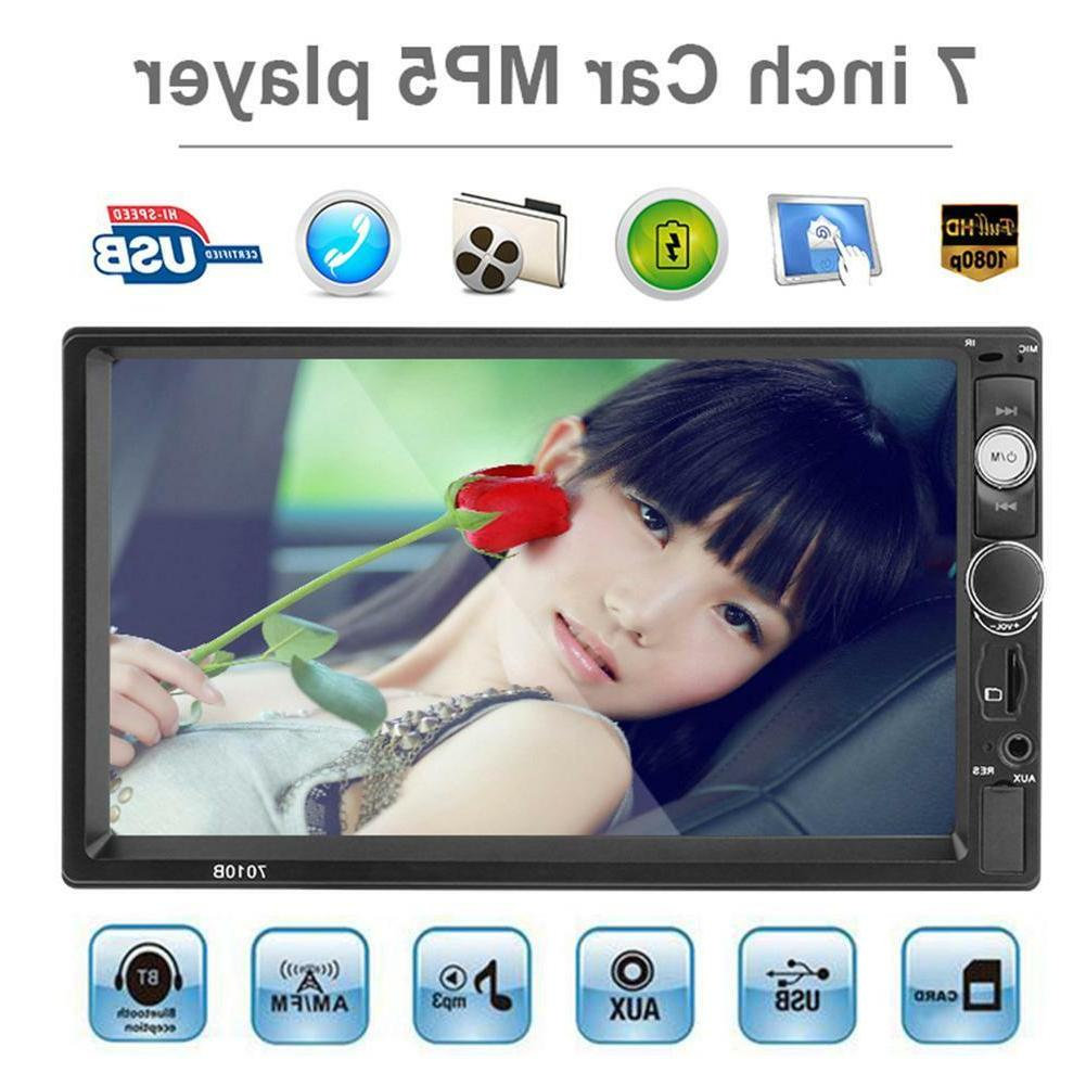 7inch Touch Stereo MP5 Player Bluetooth Hands-free FM Radio AUX