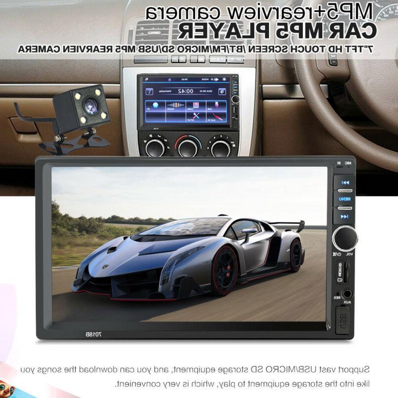 7 Inch Car MP5 Tou+ch Screen Stereo HD+Camera