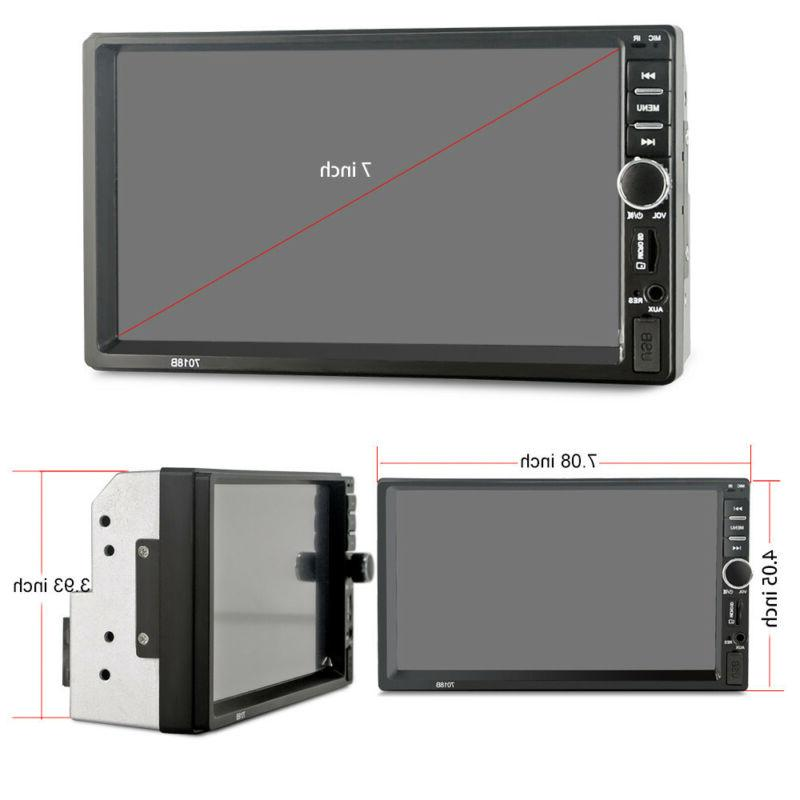7 Inch DOUBLE 2DIN Car MP5 Tou+ch Screen Stereo Radio HD+Camera