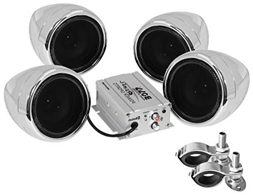 BOSS AUDIO MC470B 1000 System with Streaming, 3 Inch Speakers, Aux Input and Volume