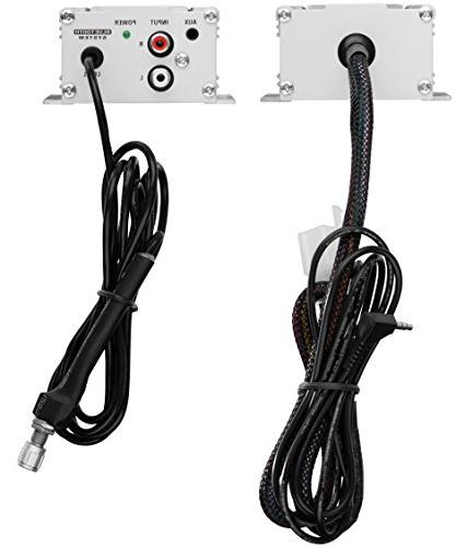 BOSS AUDIO MC470B Chrome 1000 watt System Bluetooth Audio Streaming, Two 3 Inch Weather Speakers, Input and