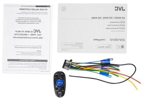 JVC KD-R490 Single-Din Dash Car CD Receiver Stereo Radio