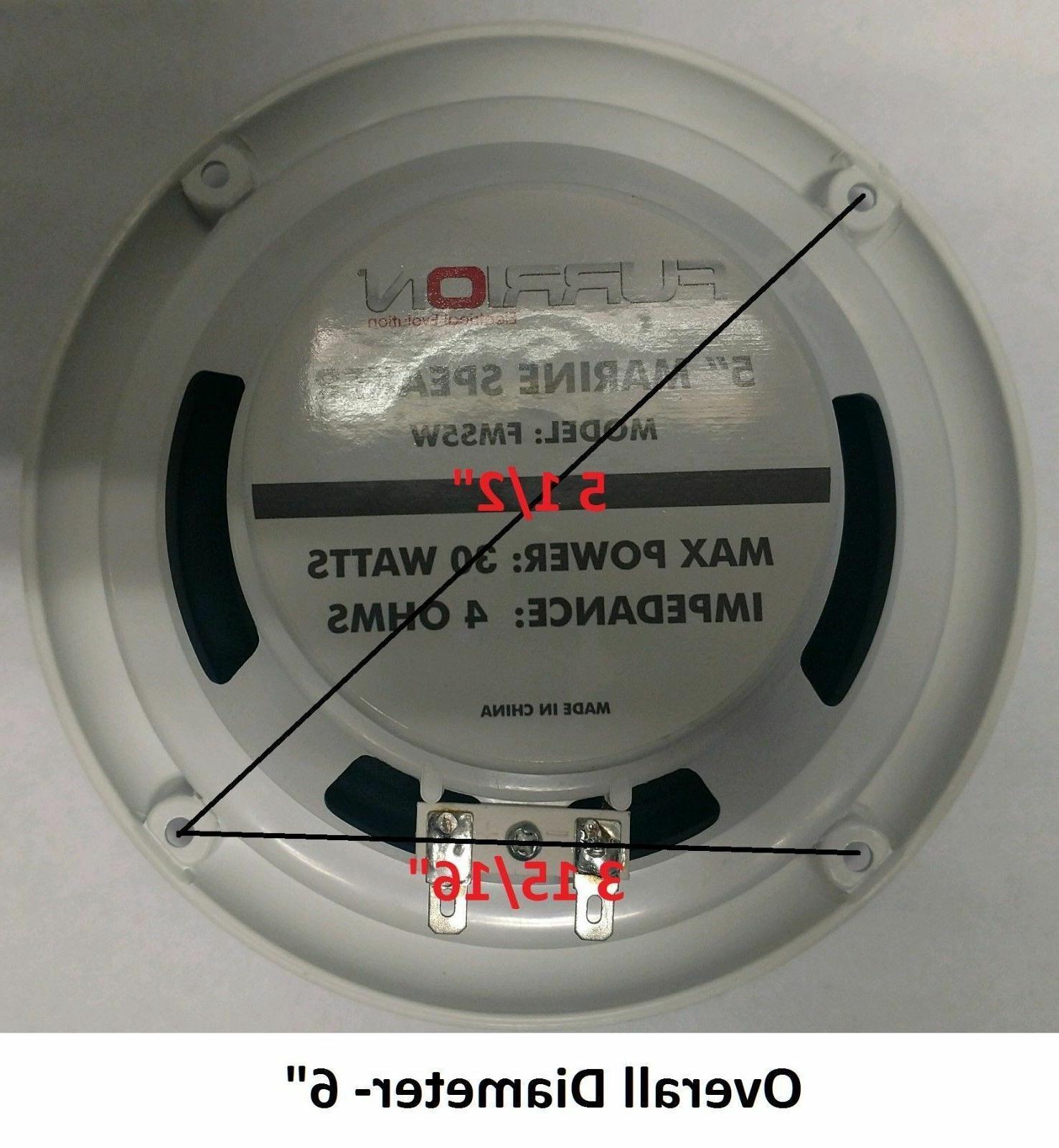 NEW DV5000 FM CD Car Stereo Marine Speakers