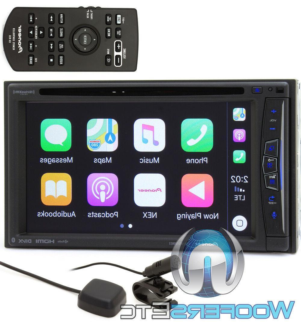 "PIONEER AVIC-W6400NEX 6.2"" CD DVD BLUETOOTH HD RADIO NAVIGAT"