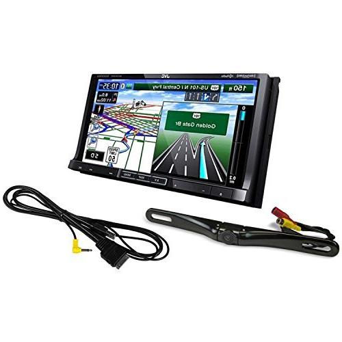 "New Rockville Black Full Metal License Plate Camera 7/"" Dash Mount Car Monitor"