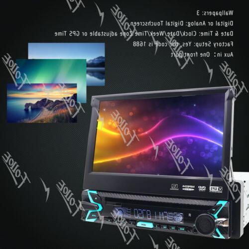 Single Car VCD Player GPS/USB/Bluetooth Radio