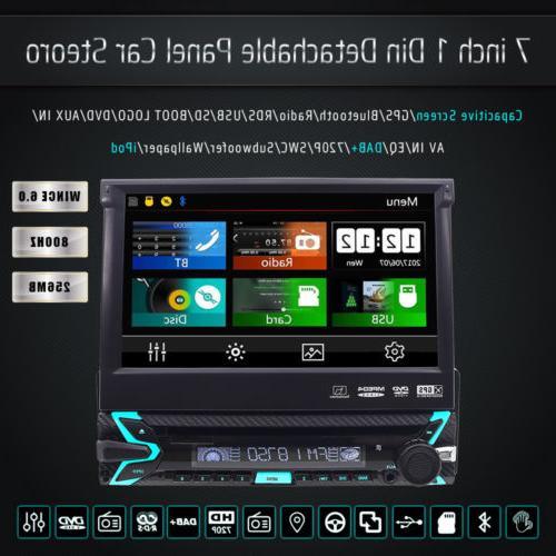 "Single 7"" Car Stereo DVD Player GPS/USB/Bluetooth Camera"
