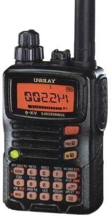 Tri-Band Yaesu VX-6R Submersible Amateur Ham Radio Transceiv