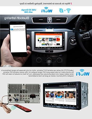 ATOTO A6 Android Car with Standard A6Y2710SB 1G/16G Car Entertainment Multimedia Tethering Internet,Support SD