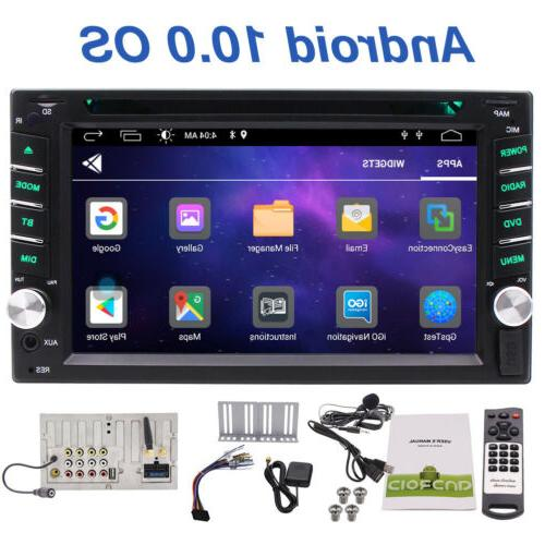 """Android 10.0 Double 2 Din Car Stereo GPS CD DVD Player 6.2"""""""