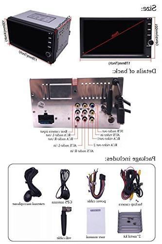 YODY Double Car 7 Inch Dash WiFi Bluetooth Mirror SWC with Backup