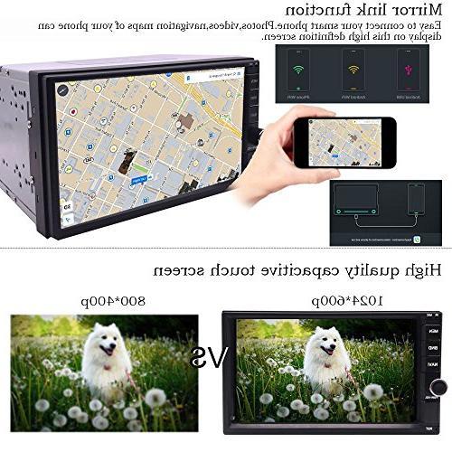 YODY Din Car Radio Inch Dash GPS Navigation Support WiFi SWC