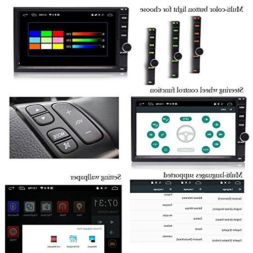 YODY Car Inch in Dash Support WiFi Bluetooth SWC with Backup Camera