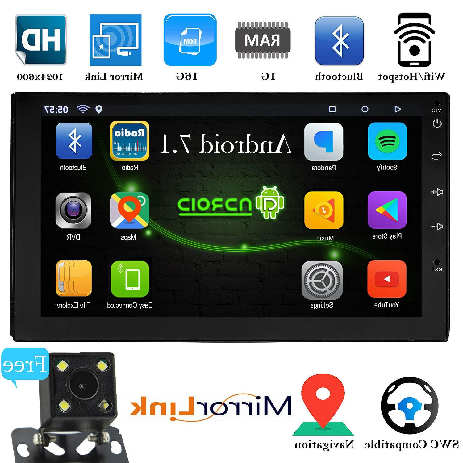android 7 1 bluetooth car stereo radio