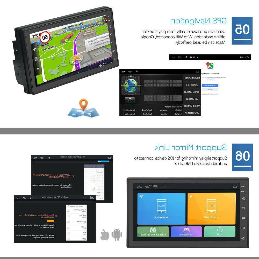 Android Quad Car Stereo Radio GPS Navigation Player