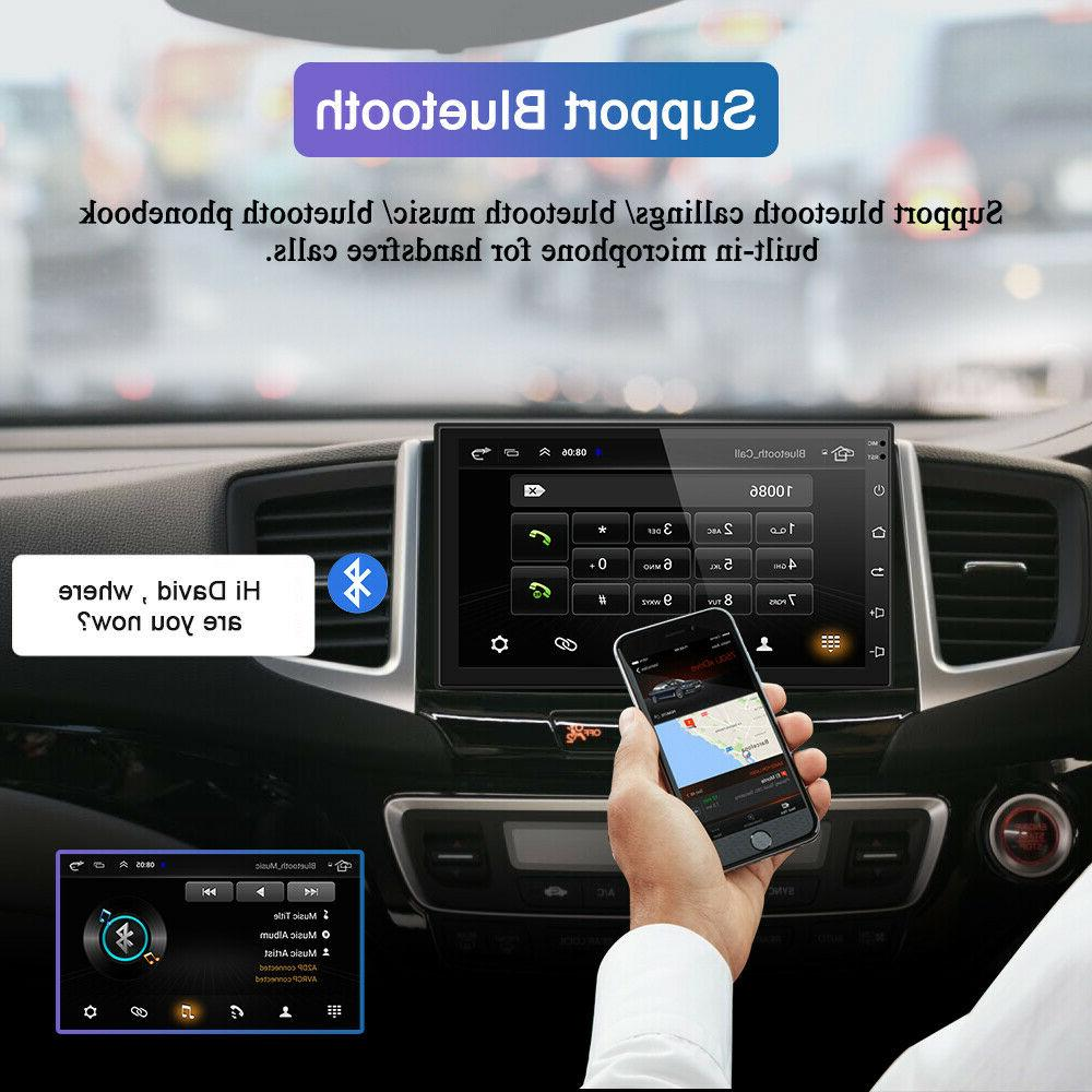 Android 9.1 2Din Car Stereo GPS OBD2 Unit 2GB