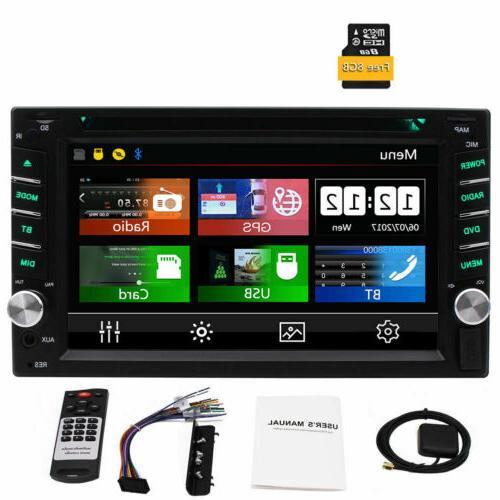 6.2 inch Double 2DIN Car Radio Stereo DVD Player GPS Navi Bl