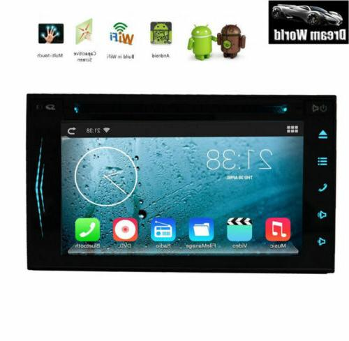 Android OS Car Stereo GPS Navigation Bluetooth Player Double WIFI 7""