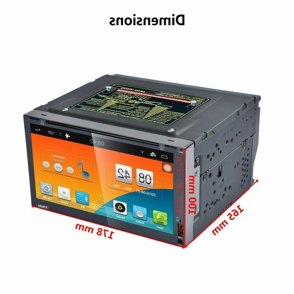 """Android8.1 WiFi 2Din 7"""" HD Navi Car Stereo Player"""