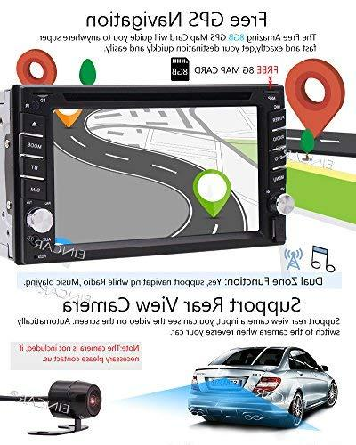 FREE Backup Included + NEW Din Stereo DVD Player Navigation Bluetooth Touch USB SD Logo Control