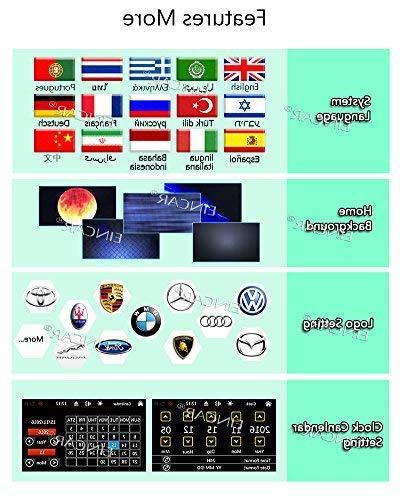 FREE Camera + Din Car Stereo DVD Player Bluetooth SD Car Logo Language Control