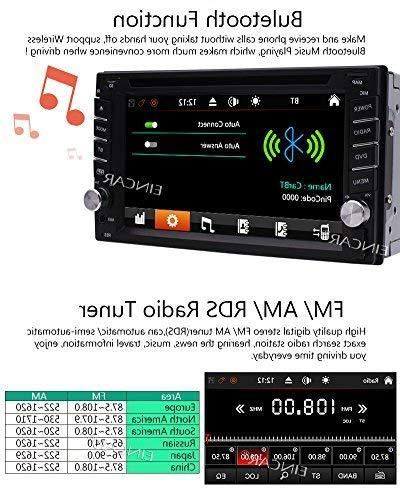 FREE + Din Player Navigation Radio Bluetooth Capacitive Touch USB SD 1080P Logo Control