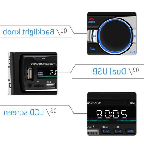 Blaupunkt Car Stereo Receiver USB AUX Audio