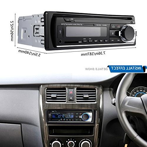 Bluetooth Audio Stereo Receiver - LESHP Car Stereo DIN In 12V FM MP3 Radio Player with Remote Control