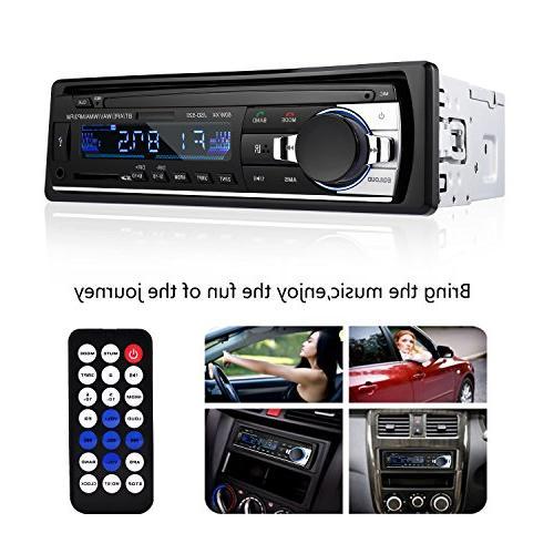 Bluetooth Car Stereo Receiver - Car Stereo Audio DIN Dash 12V FM Receiver 60Wx4 Radio Player Remote Control