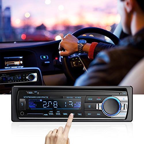 Bluetooth Car Audio Stereo Receiver - Car Single DIN 12V FM Radio Player Control