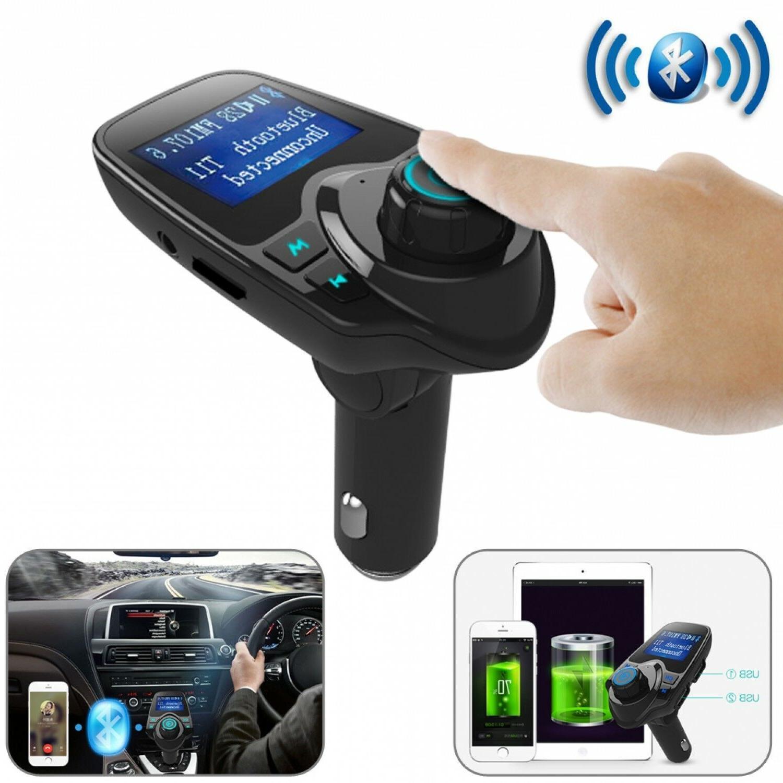 bluetooth car fm transmitter handsfree wireless radio
