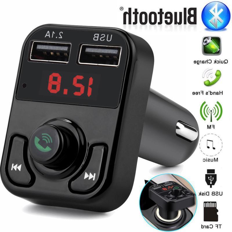 Bluetooth Car Kit FM Transmitter Wireless Radio Hands-free A