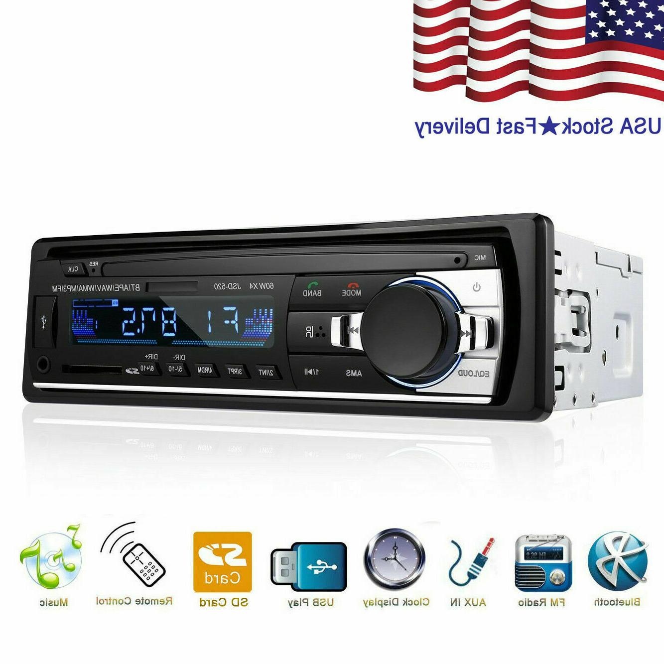 bluetooth car stereo audio in dash fm