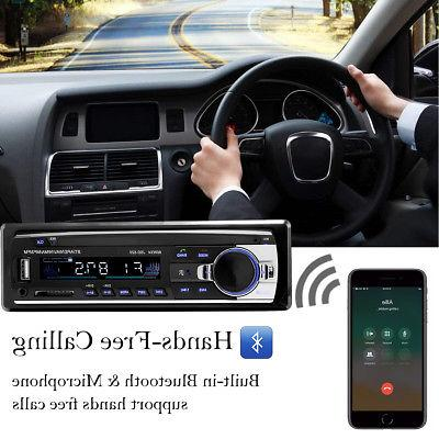 Bluetooth Audio In-Dash Receiver SD Radio Player