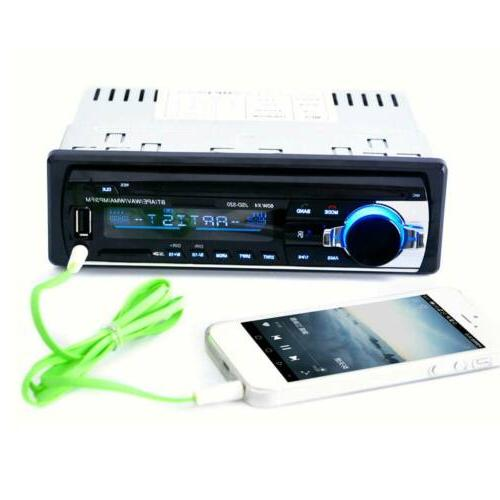 Bluetooth Car Stereo AUX USB MP3 Radio Player In-Dash