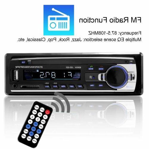 Bluetooth Stereo FM AUX Input USB Radio In-Dash Unit