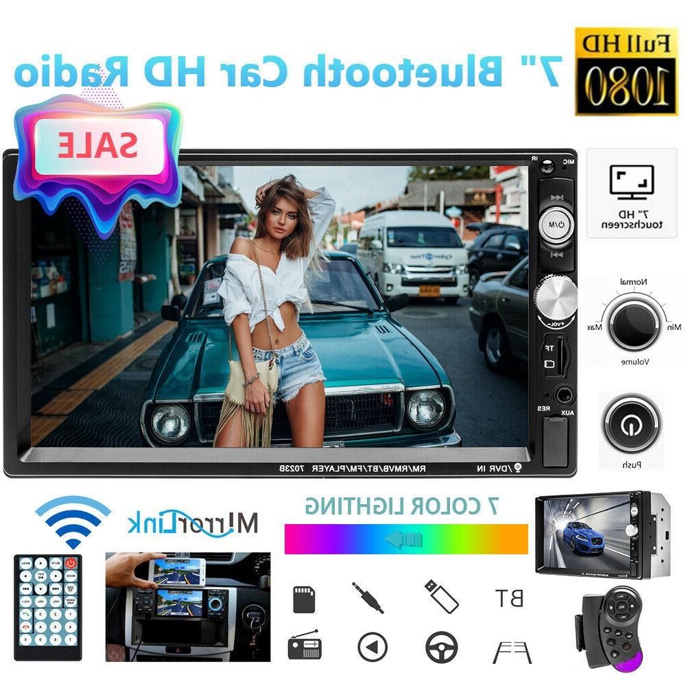 bluetooth car stereo radio 2 din 7