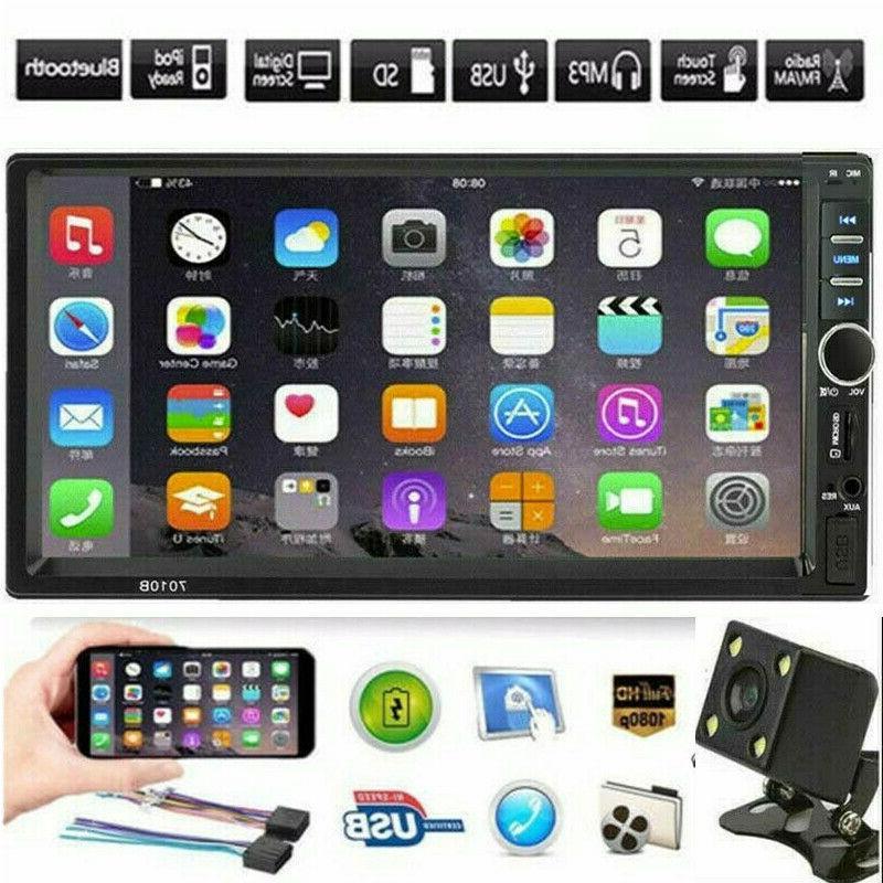 bluetooth car stereo radio 2din 7 hd