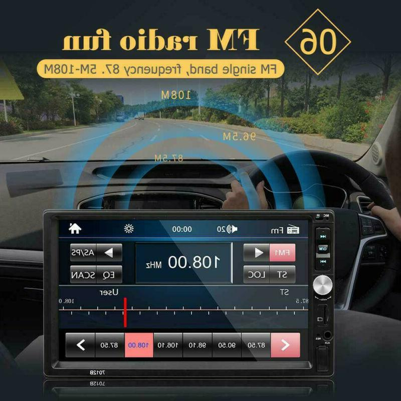 🔥Car Stereo DIN FM Player AUX With Rear U