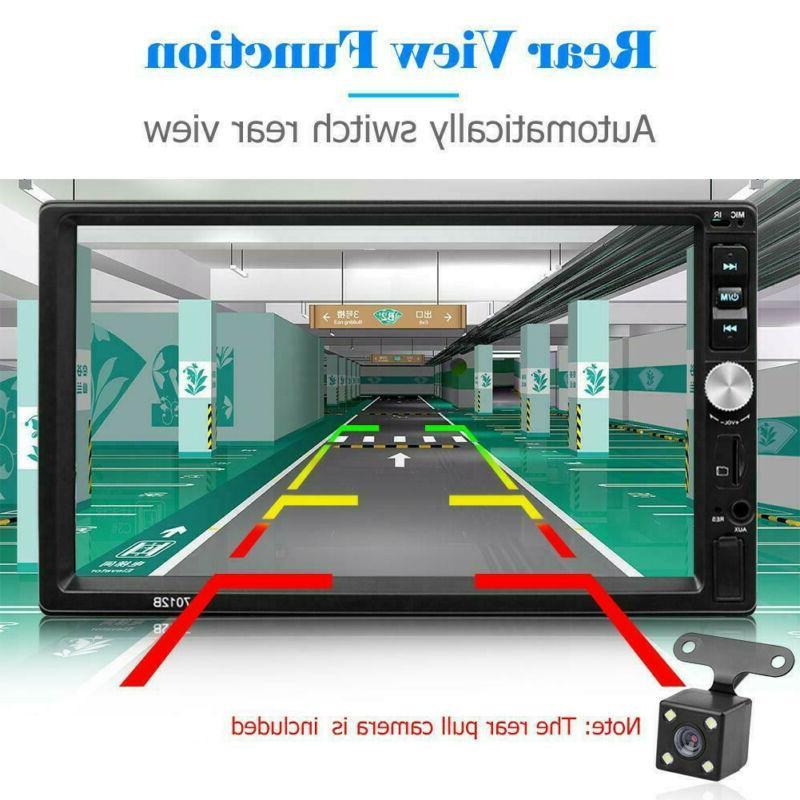 Bluetooth Car 2DIN MP5/MP4 Player Screen+Rear