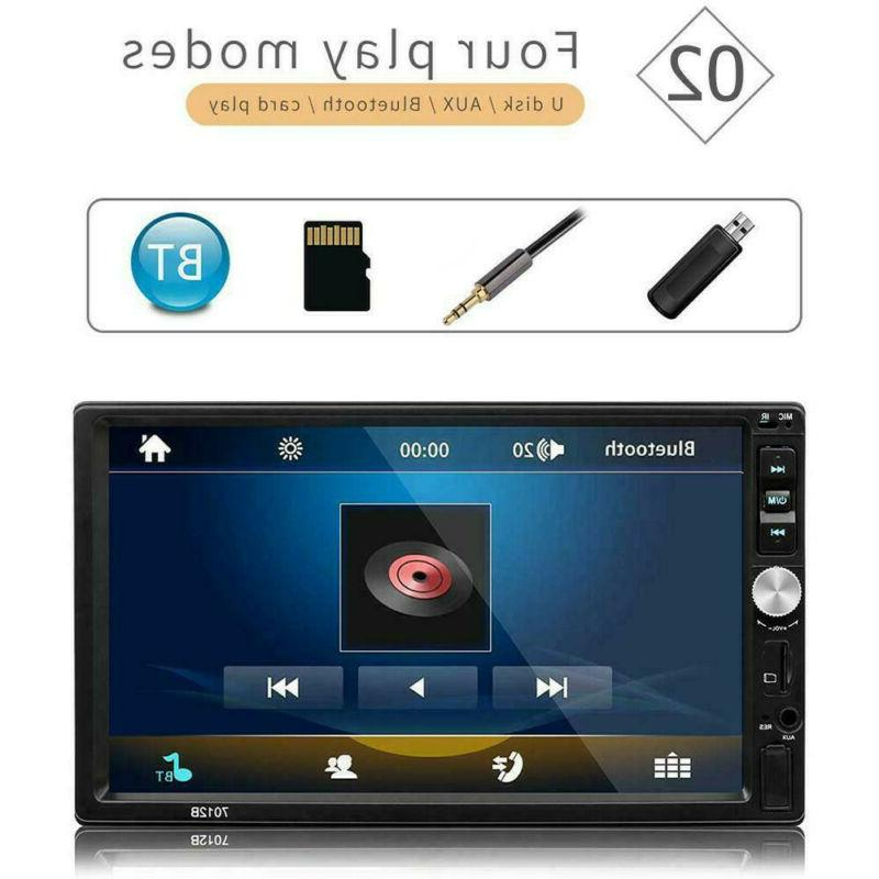 2 DIN Stereo Player IOS Mirror Link TouchScreen
