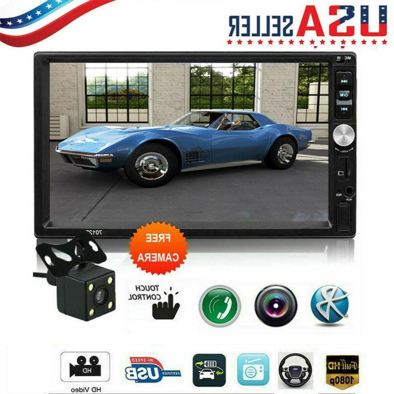 🔥Car Radio 2 FM Player Touch AUX Camera U