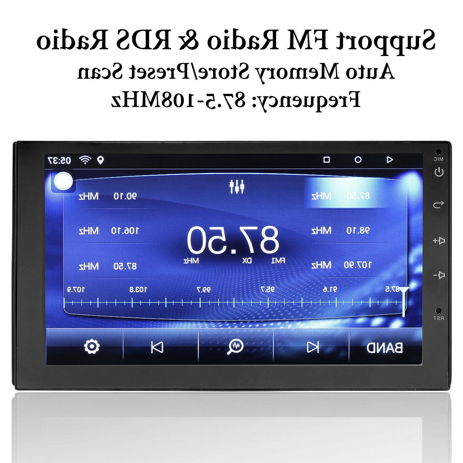 """Bluetooth Car Stereo Radio Android 7.1 2 DIN 7"""" Wifi Camera"""