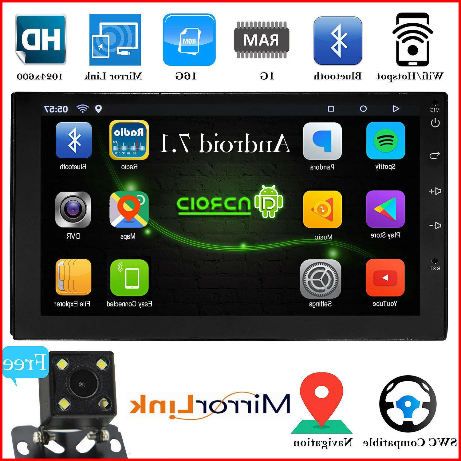 bluetooth car stereo radio android 7 1