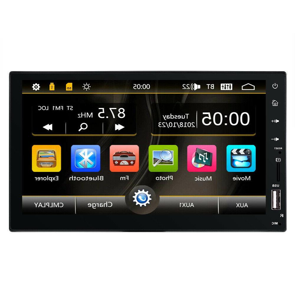 "Bluetooth Car Stereo Touch Screen 2DIN 7"" MP5 FM Player Rear"