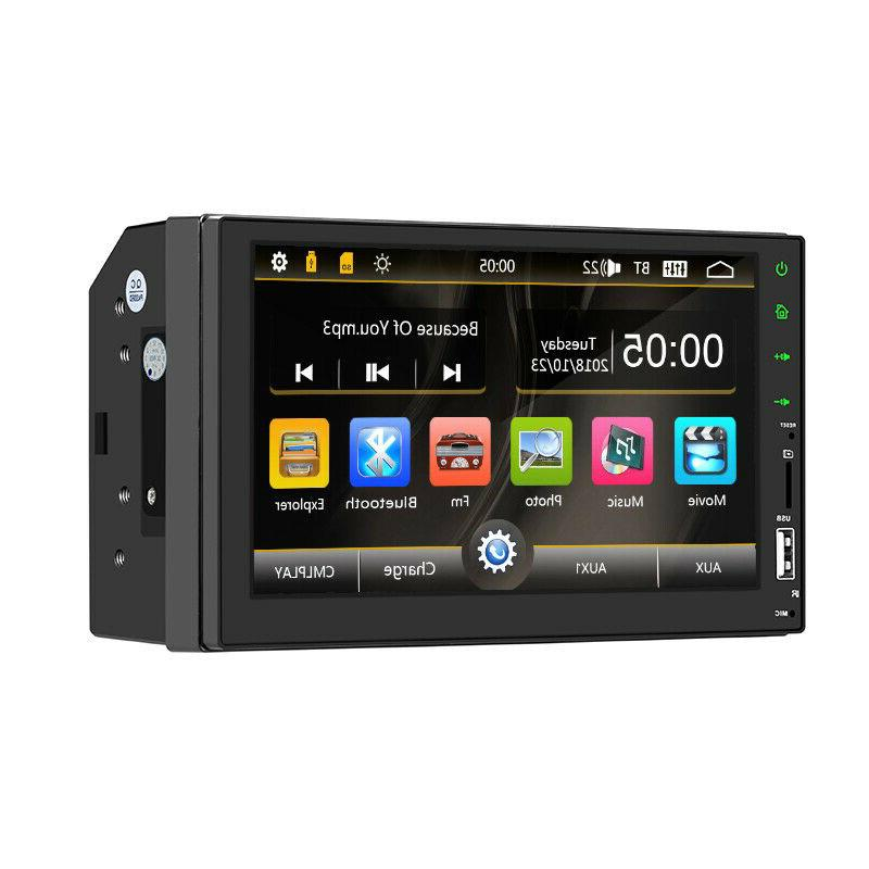 """Bluetooth Car Screen 2DIN 7"""" MP5 FM Radio Player Rear"""