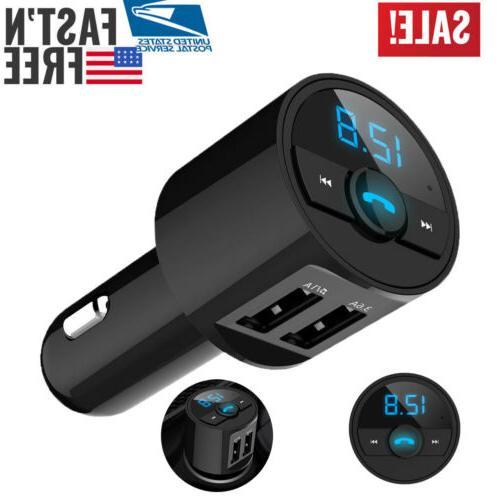 bluetooth car usb charger fm transmitter radio