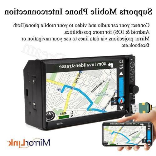 Bluetooth FM Stereo Radio 7'' MP5 Free Camera